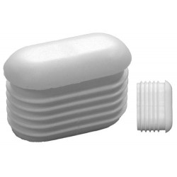 Embouts ovales incurvés pour tube Ext. 80x25 mm Ep. 1,2-2,5 - Blanc