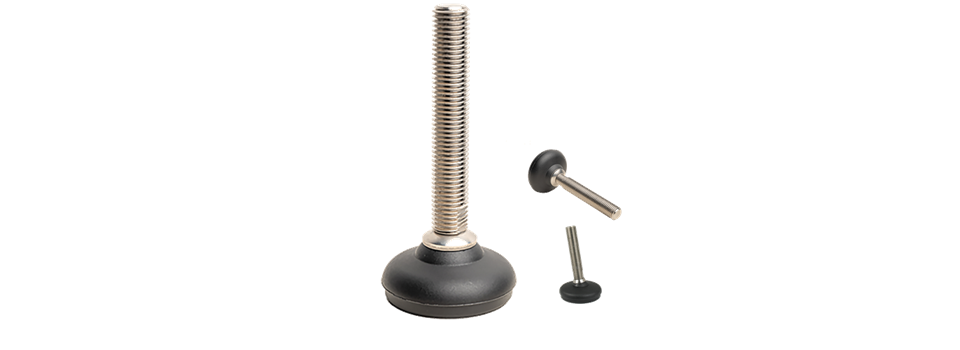 Adjustable foot - Swivel thread for heavy duty