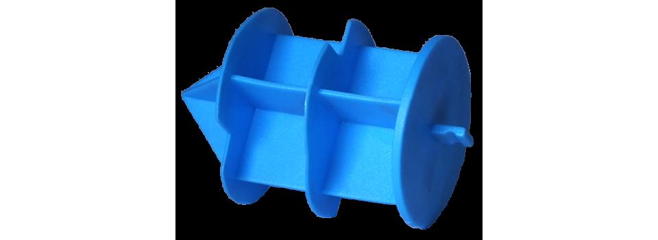 Caps rentrante à ailettes avec languette pour la protection de tube