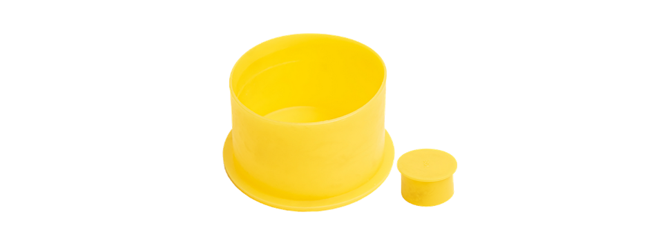Protection caps with flange