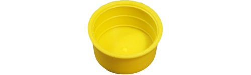 Tapered yellow caps - external and internal protection
