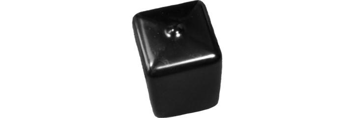 Embout recouvrant carré PVC souple – Hauteur adaptable