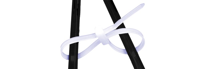 Lien et collier de serrage plastique – Double tête
