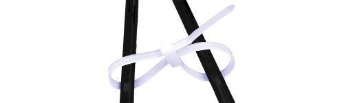Lien de Serrage Plastique à double Tête Noir