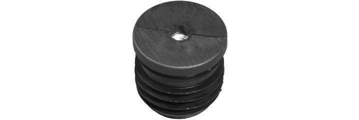 Embout à ailette rond – Filetage métallique