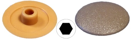 Screw caps for hexagonal shape