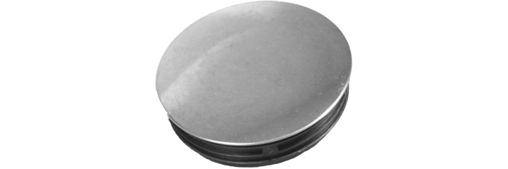 Bouchon à ailettes rond à surface chromé