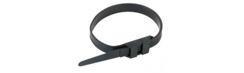 Cable tie and plastic clamp collar - Double locking