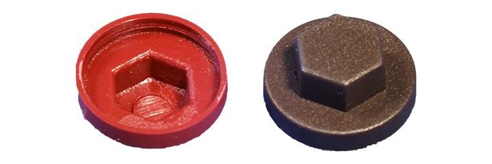 Cache-écrou hexagonal et rondelle