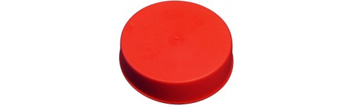 Tapered red caps - external and internal protection