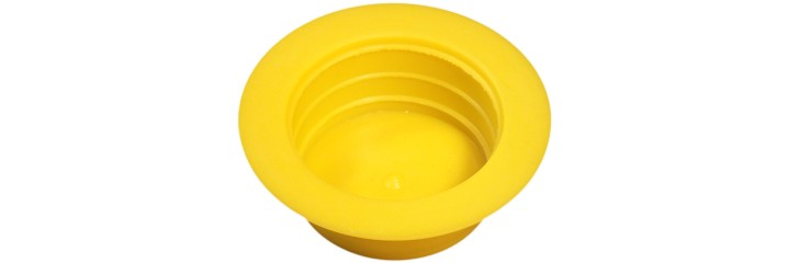 Bouchon conique large collerette jaune