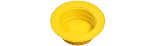Tapered wide flange yellow caps