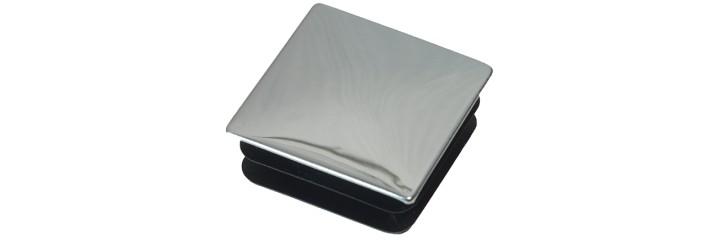 Bouchon à ailettes carré à surface chromé