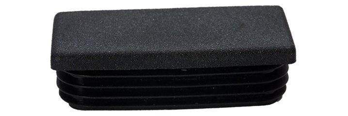 Plastem rectangular tube insert re bouchon plastique