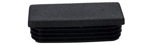 Embout à ailettes rectangle Noir Bouchon Plastique
