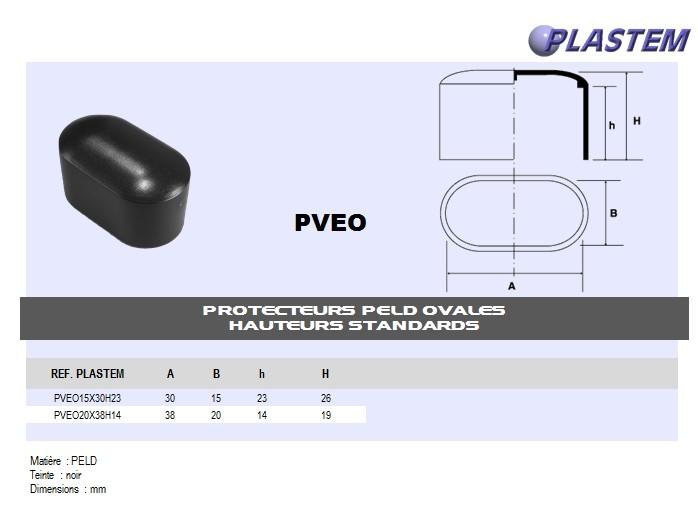 embout recouvrant ovale pe hauteur standard bouchon plastique. Black Bedroom Furniture Sets. Home Design Ideas