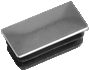 Chromium surface rectangular tube insert