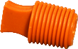 Flangeless heat resistance silicone plugs - 316°C